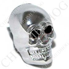 Chrome - Black Eye Skull - Metal Custom Thumb Screw Seat Bolt for 96-14 Harley