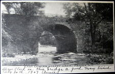 MEDINA NY ~ 1907 EAST CENTER STREET ARCH  ~ BRIDGE OVER RIVER~WRIGHT & ROSE DRUG