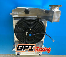ALUMINUM RADIATOR AND FAN FOR TRIUMPH TR2/TR3/TR3A/TR3B MT 1953-1957 62MM