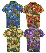 Mens Hawaiian Fancy Dress Beach Floral Shirt Holiday Short Sleeve Casual M-5XL
