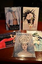 Fashion Illustrations Set of 5 Poster Card Chanel Valentino Versace Vogue Art