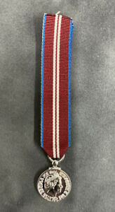 """Queen's Diamond Jubilee 2012 Medal Miniature Loose Superb Quality With 6""""ribbon"""