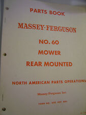 VINTAGE MASSEY FERGUSON  PARTS MANUAL - MF  # 60 REAR MOUNTED MOWER - 1960