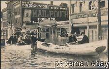 1913 Flood In Marietta, Ohio Real Photo Postcard