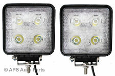 "2 x 40W 4"" Cree LED Work Light Lamp Flood Beam Jeep Tractor Truck Bright 12v 24v"