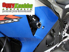 OK759 SUZUKI GSXR1000 2009-16 OGGY KNOBBS NO CUT KIT (WHITE KNOBS) Frame Sliders