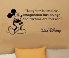 Disney Mickey Mouse Laughter is timeless vinyl wall art decal sticker quote 34i