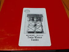"Scale Structures Ltd. #1145 Twin Water Tanks -- Kit - 4 x 2-3/4""  (kit Form)"