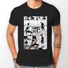 Rock Lee Manga Strip Naruto Anime Manga Unisex Tshirt T-Shirt Tee ALL SIZES