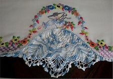 Vintage Southern Belle Transfer Pillowcases PATTERN Embroidered Crocheted Skirt