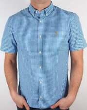 Farah Slim Check Button Down Casual Shirts & Tops for Men