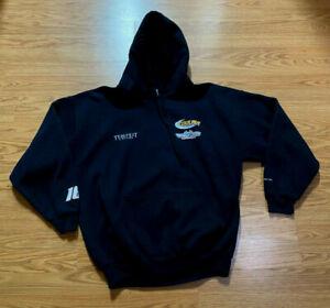 Gildan Black hooded sweatshirt Coulter motorsports Darrell Gwynn foundation XL