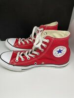Converse Chuck Taylor All Star High Top Size US Men's 8.5 Women's 10.5 Shoes Red