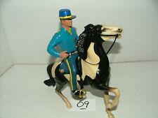 New Listing#1950s Hartland Rare Cavaly Trooper Figure w Kepi Hat & Horse w Saddle Lot#09