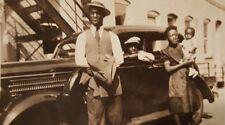 Vintage Nj Black History African American Family Classic Car East Coast Photo