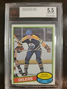 1980-81 OPC O-PEE-CHEE MARK MESSIER ROOKIE RC #289 BVG 5.5  Error Shoots Right!!