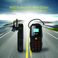 BM60 Mini Tiny Mobile Phone Bluetooth Dialer Dual SIM Cell Phone Flashlight TB