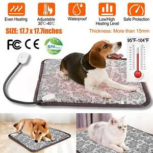 Pet Electric Heat Pad Blanket Heated Heating Mat Dog Cat Bunny Bed Waterproof