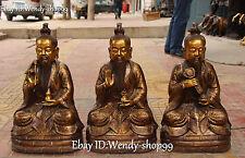 "20 ""Bronze doré Morales Lingbao Senior Ru Yi Prêle Fouet Statue"