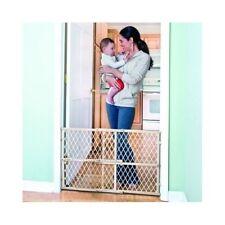 Baby Safety Gate Wood Fence Pet Walk Thru Child Door Dog Toddler Locking Stair