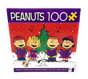 Peanuts Charlie Brown Snoopy Christmas 100 Piece Jigsaw Puzzle (NEW)