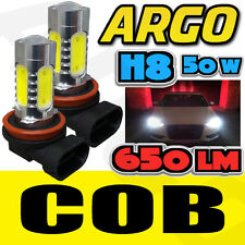 2 X BMW H8 CREE LED CANBUS ANGEL EYES HALO LIGHT NO ERROR LAMP 8000K WHITE BULB