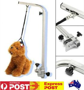 Adjustable Pet Grooming Table Arm Stainless Steel Beauty Desk Bracket + Leash AU
