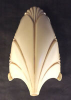 Antique Style Frost Tan Chandelier Batwing Slip Shade for Markel Light Fixture