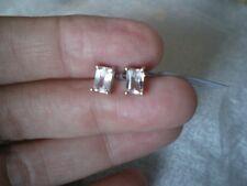 Mawi Kunzite octagon stud earrings, 1.4 carats, 1.04 grams 925 Sterling Silver