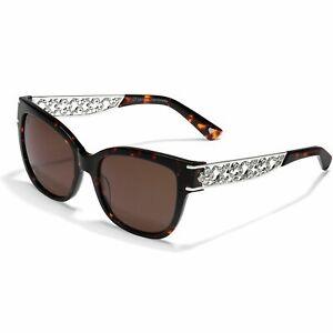 NWTag/Case Brighton TOLEDO LATTICE Tortoise Brown Sunglasses UVA/UVB MSRP $115