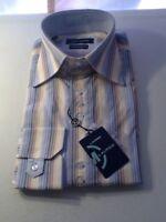 Men's Max Lauren Dress Shirt Long Sleeved Sz M 15.5 - 16 Neck Striped New