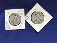 1934-D and 1934-S walking Liberty Halves