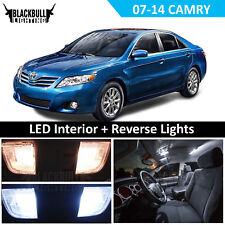 White Interior + License + Reverse Light Package Kit for 2007-2014 Toyota Camry