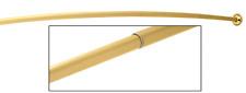 Polished Brass Curved Adjustable Shower Rod