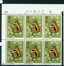 GB 1981 Butterflies set in cylinder blocks UM/MNH