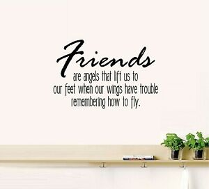 """Friends Are Angels... Vinyl Decal Home Décor 12"""" x 18"""""""