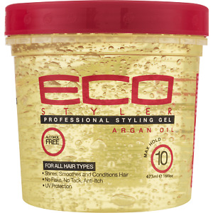 (2 Pack) Eco Style Argan Oil Styling Gel, 16 oz