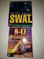 Police Quest: SWAT & B-17 Flying Fortress Mighty 8th PC BIG BOX
