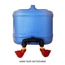 CHICKEN DRINKER ATTACHMENT TO SUIT WATER TANKS with 2 LUBING CUPS Waterer CHOOK
