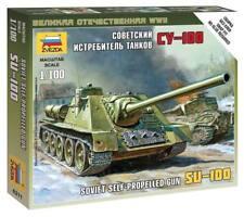 Zvezda 1/100 Soviet SU-100 Self Propelled Gun Z6211