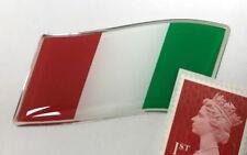 Bandera italiana ondeando Pegatina Cúpula acabado rojo, blanco y verde 57mm-Italia