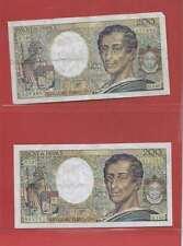 Lot de 2 x 200 FRANCS MONTESQUIEU de  1992 ALPHABETS   D.140  B.142