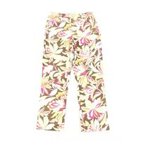 Etcetera Floral Print Ankle Crop Pants SIZE 4 Womens Brown Cropped Trouser GUC