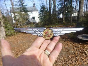 "1937 1938 1939 Chrysler Trunk emblem wings with cloisonne 8 5/8"" long*"