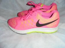NIKE ZOOM RUNNING WOMEN PINK TEXTILE LACE UP TRAINERS SIZE UK 7.5 EU 42 US 10VGC