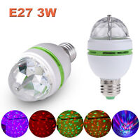 E27 3W Colorful Auto Rotating RGB LED Bulb Stage Light Party Club Disco DJ Lamp
