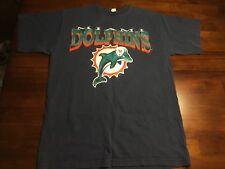 Vtg Miami Dolphins Majestic T Shirt Nfl Football Adult Medium Florida Blue Usa