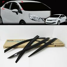 Smoke Window Sun & Rain Door Visor 4P For KIA Rio Sedan 4DR 2012 2015