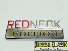 """REDNECK EDITION"" Chrome Decal Logo Sticker Badge Plaque fits all Plymouth cars"