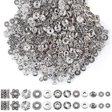 50/100X Tibetan Silver Metal Charms Loose Spacer Beads Wholesale Jewelry Making